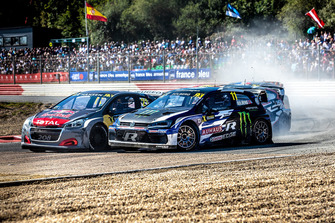 Петтер Сольберг, Volkswagen Polo GTI Supercar, PSRX Volkswagen Sweden, и Тимми Хансен, Peugeot 208 WRX, Team Peugeot Total