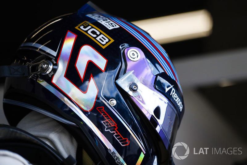 Lance Stroll, Williams Racing, helmet detail