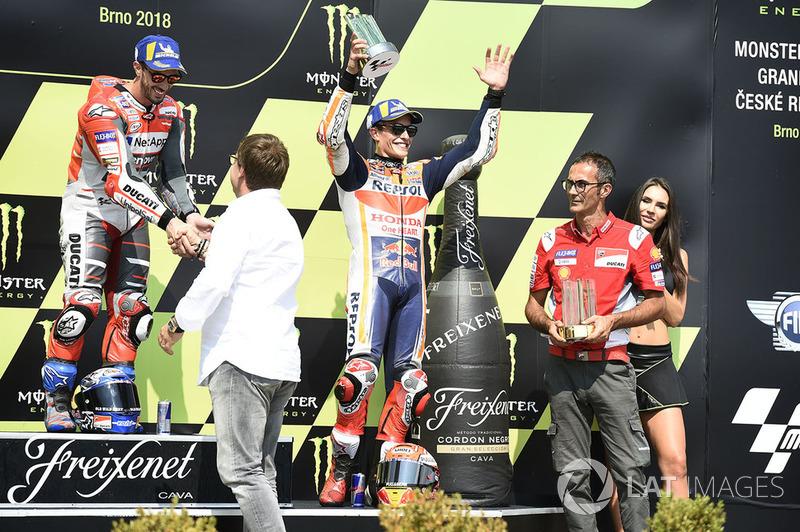 Podio: ganador de la carrera Andrea Dovizioso, Ducati Team, 3º Marc Marquez, Repsol Honda Team