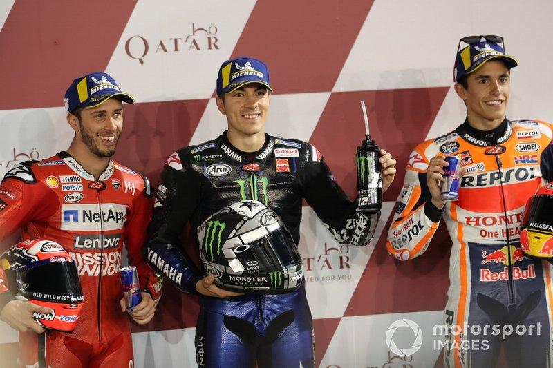 Top 3 Qualifiche, Andrea Dovizioso, Ducati Team, Maverick Vinales, Yamaha Factory Racing, Marc Marquez, Repsol Honda Team