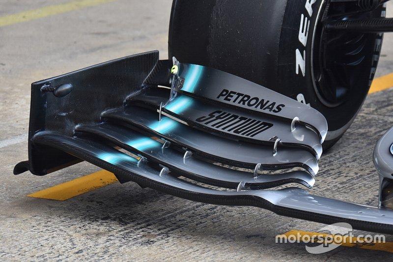 Mercedes AMG F1, detalle técnico del morro