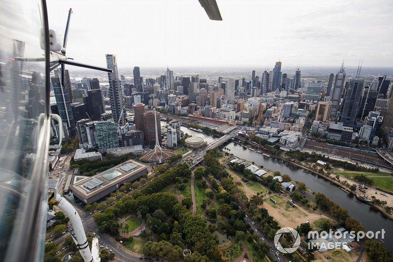 Aerial over Albert Park