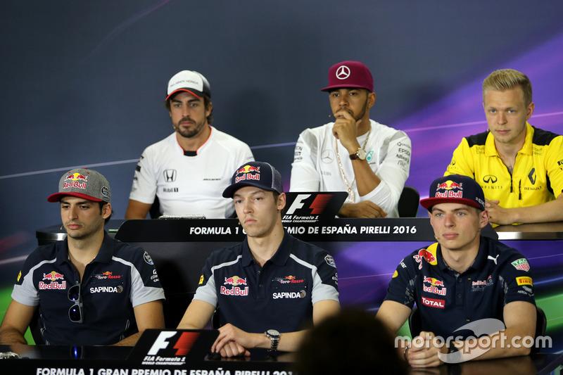 Carlos Sainz Jr., Scuderia Toro Rosso, Daniil Kvyat, Scuderia Toro Rosso e Max Verstappen, Red Bull