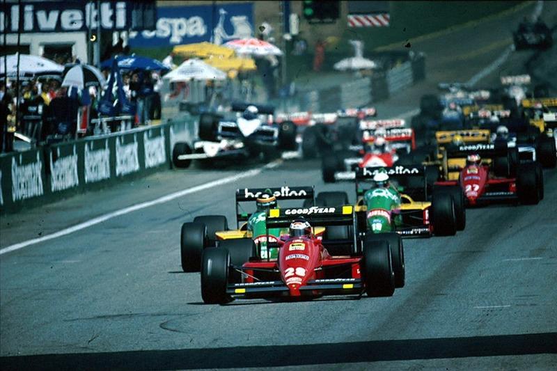 1987 Avusturya GP start kazası