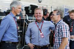Damon Hill, Sky Sports Presentador con Johnny Herbert, Sky Sports F1 Presentador y Jacques Villeneuv