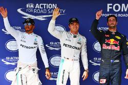 Нико Росберг, Mercedes AMG F1, Льюис Хэмилтон, Mercedes AMG F1, Даниэль Риккардо, Red Bull Racing