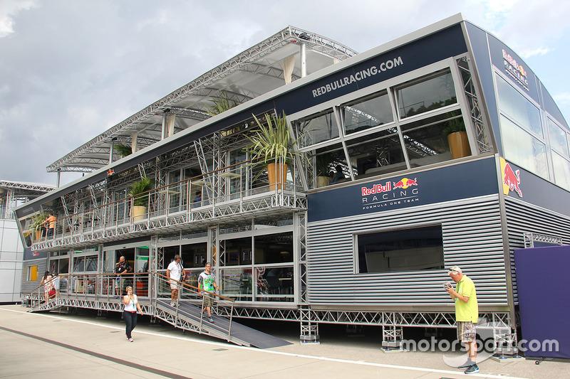 Red Bull Racing motorhome