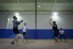 Marco Wittmann and Philipp Eng, Indoor Beachvolleyball