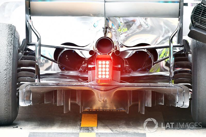 Difusor y zona trasera del Mercedes-AMG F1 W09
