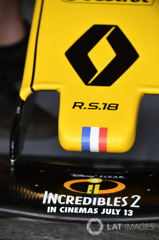 Renault Sport F1 Team R.S. 18, dettaglio del naso