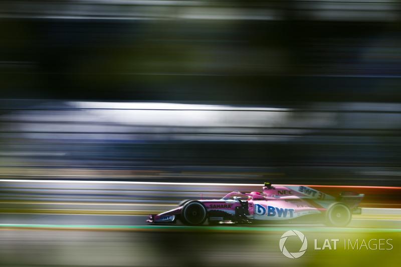10: Esteban Ocon, Force India VJM11, 1'28.194