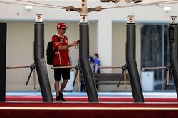 Kimi Raikkonen, Ferrari at the Paddock gates