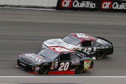 Erik Jones, Joe Gibbs Racing Toyota, Tyler Reddick, Chip Ganassi Racing Chevrolet
