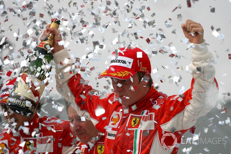 Podyum: Dünya Şampiyonu Kimi Raikkonen, Ferrari