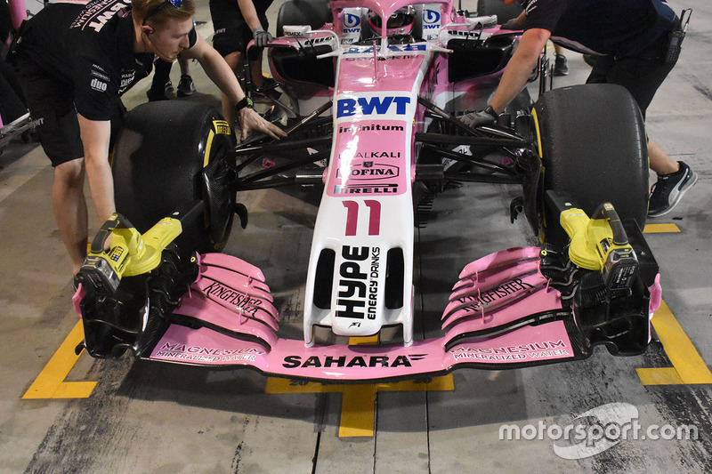 Force India VJM11 Mercedesdetalle frontal