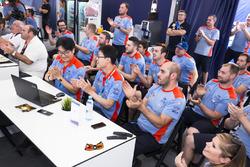Hyundai Motorsport team celebrates second and third place