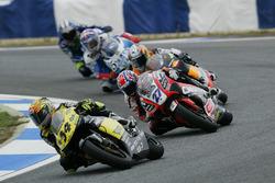 Andrea Dovizioso, Honda; Casey Stoner, Aprilia