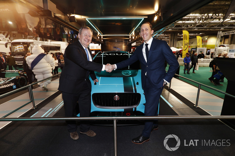 James Barclay of Jaguar poses with Pascal Couasnon