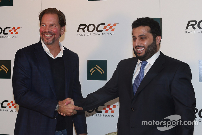Fredrik Johnsson, président de la ROC, et son Excellence Turki Al-Sheikh, président de l'Autorité générale pour les sports d'Arabie Saoudite
