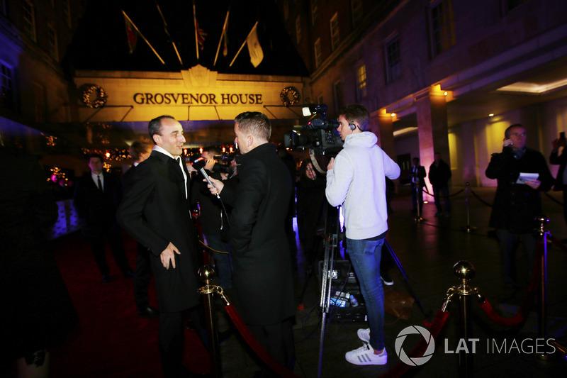 Robert Kubica speaks to the media