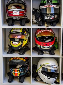 The drivers helmets