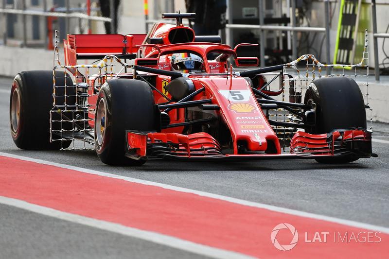 Sebastian Vettel, Ferrari SF71H ve aero sensörü