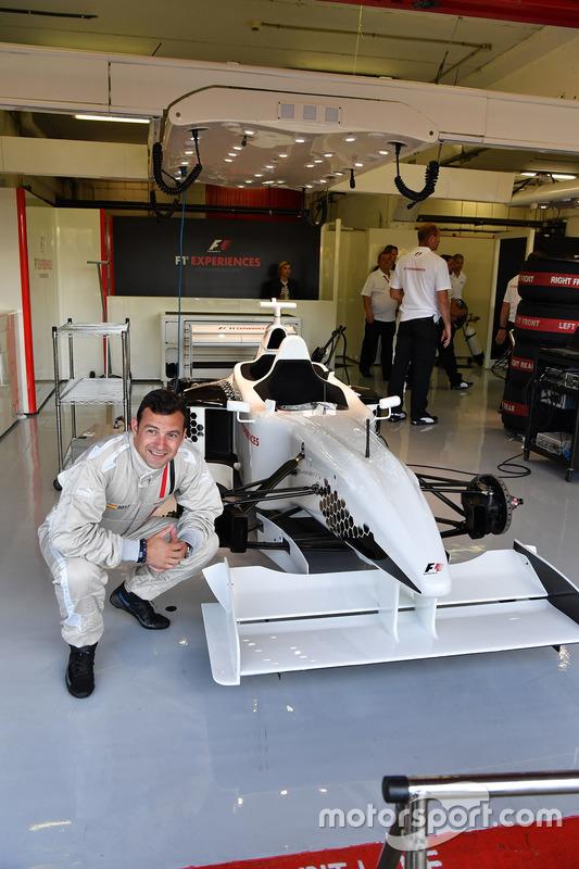 F1 Experiences 2-Seater passengers Will Buxton, NBC TV Presenter