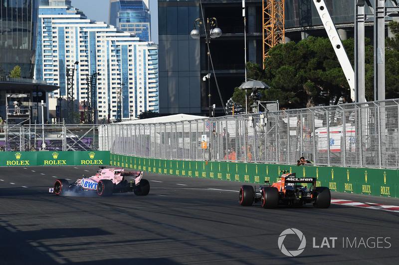 Sergio Pérez, Sahara Force India VJM10 se bloquea