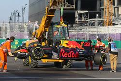 Разбитый автомобиль RB13 Макса Ферстаппена, Red Bull Racing