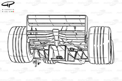 McLaren MP4-15 rear detail, note exhaist position