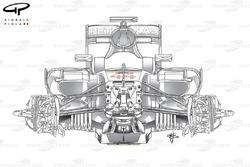 Mercedes F1 W07 chassis detail (B&W)