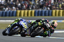 Johann Zarco, Monster Yamaha Tech 3; Valentino Rossi, Yamaha Factory Racing
