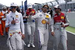 Marco Wittmann, BMW Team RMG, BMW M4 DTM; Augusto Farfus, BMW Team RMG, BMW M4 DTM; Mike Rockenfeller, Audi Sport Team Phoenix, Audi RS 5 DTM
