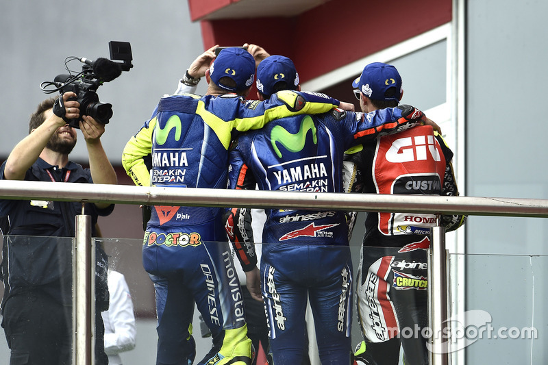 Les hommes du podium