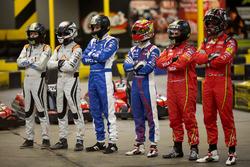 Netherlands driver Bono Huis, team-mate Jérôme d'Ambrosio, Dragon Racing; Aleksi Uusi-Jaakola and te