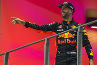 Podium: second place Daniel Ricciardo, Red Bull Racing