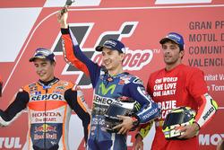 Podium: ganador, Jorge Lorenzo, Yamaha Factory Racing, segundo, Marc Márquez, Repsol Honda Team, ter