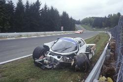 Choque de Derek Bell, Stefan Bellof, Porsche 956