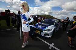 Grid girl of Jason Plato, Team BMR Subaru Levorg