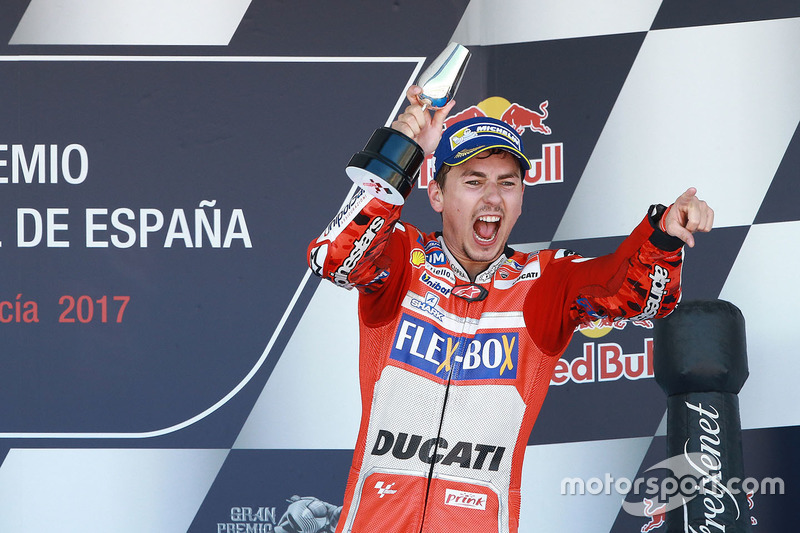 Podium: third place Jorge Lorenzo, Ducati Team
