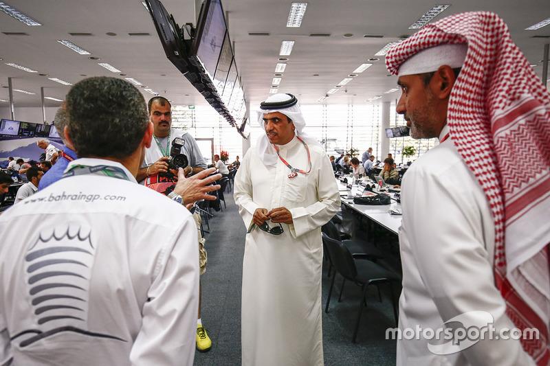 Bahraini dignitaries visit the media centre
