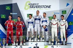 Podium GTE-Pro: 1. #67 Ford Chip Ganassi Racing, Ford GT: Andy Priaulx, Harry Tincknell, Pipo Derani; 2. #51 AF Corse, Ferrari 488 GTE: James Calado, Alessandro Pier Guidi; 3. #91 Porsche Team, Porsche 911 RSR: Richard Lietz, Frédéric Makowiecki