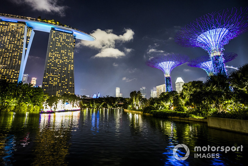 Hotel Marina Bay Sands, Pemandangan Supertree Grove di Gardens by the Bay