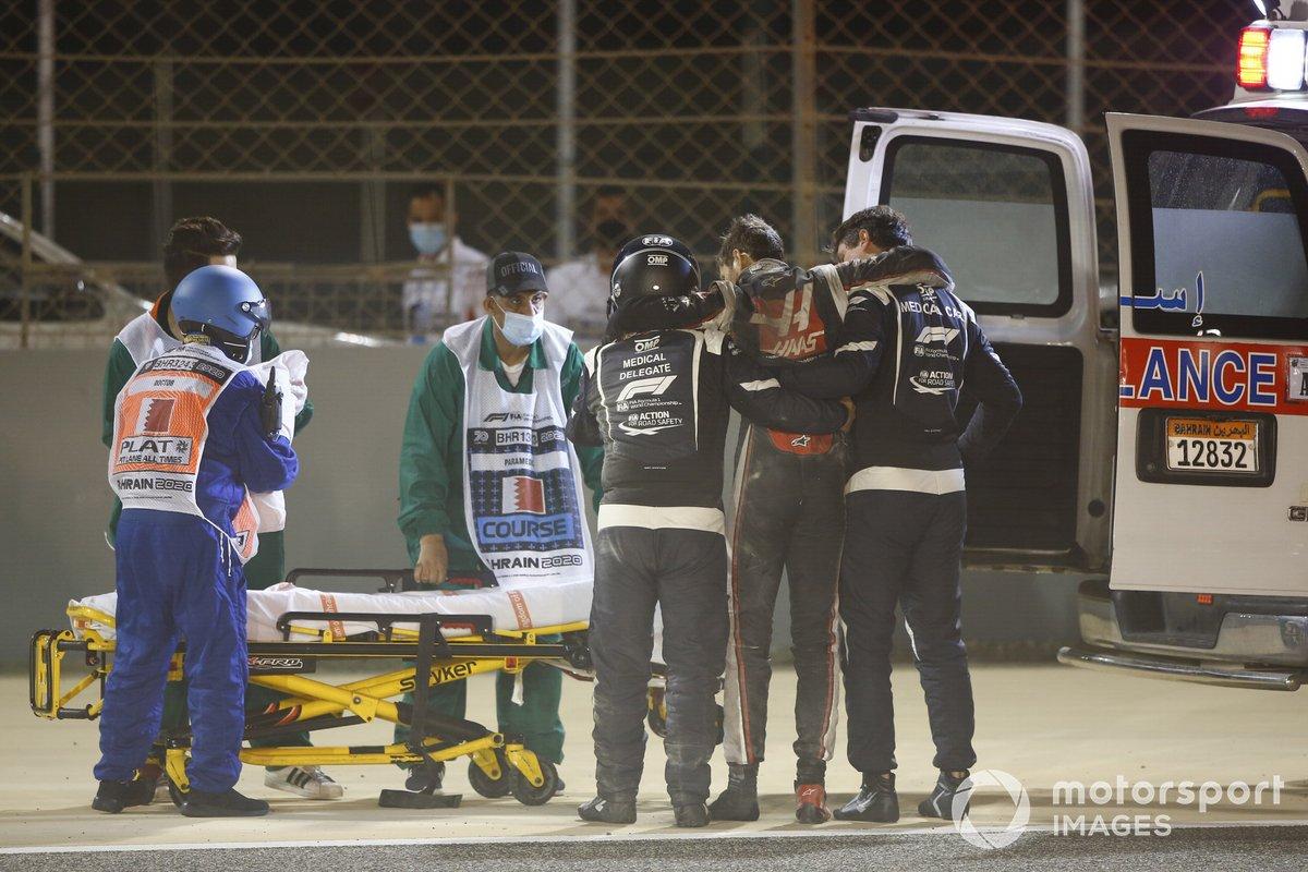 Crash van Romain Grosjean, Haas