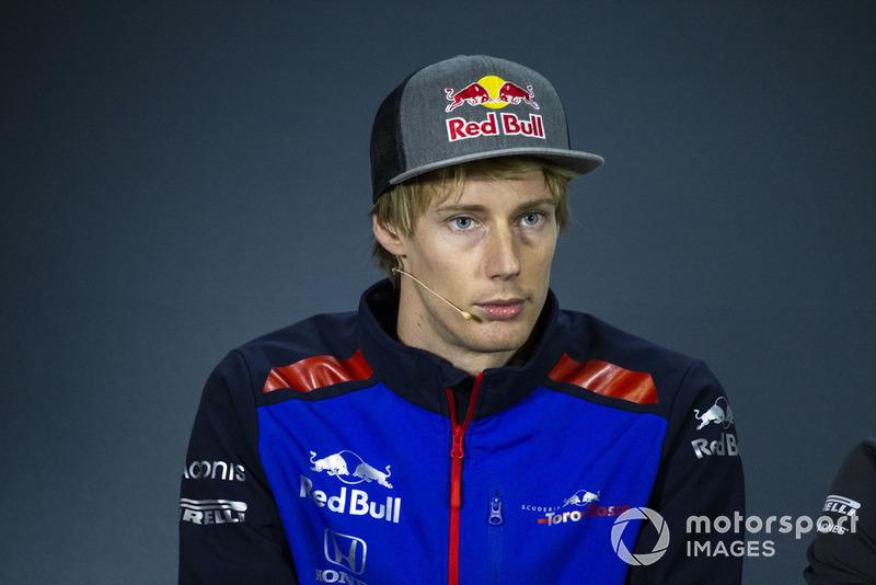 Brendon Hartley, Scuderia Toro Rosso en conférence de presse