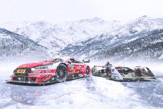 Audi DTM y Formula E coches en el hielo