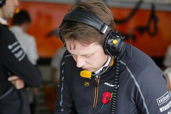 Adrian Goodwin, Trackside Driver Performance Engineer, McLaren