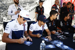 Lance Stroll, Williams, Felipe Massa, Williams, alongside Esteban Ocon, Force India, Sergio Perez, Force India