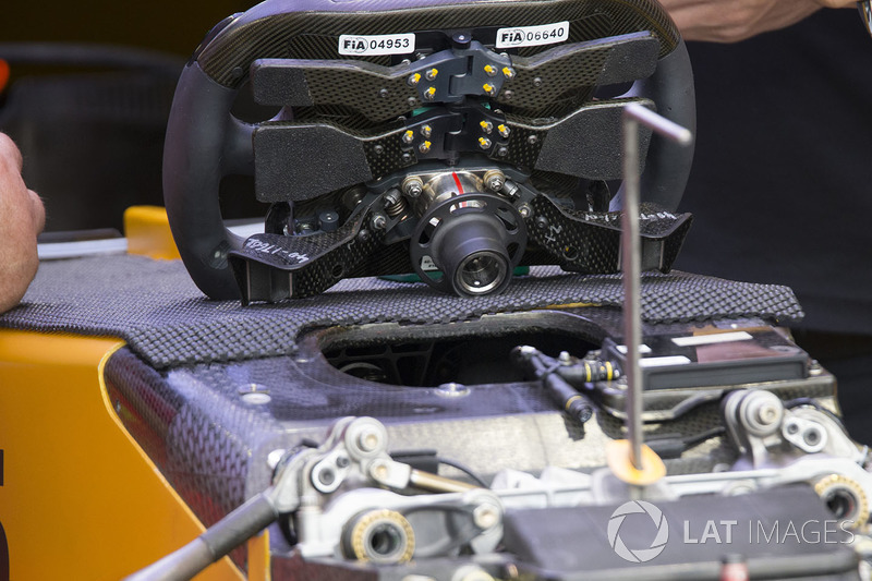 Renault Sport F1 Team RS17 steering wheel detail