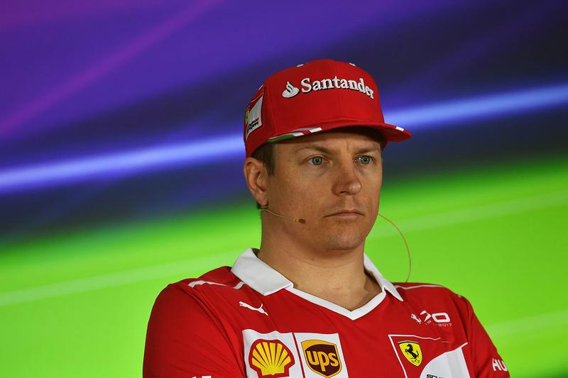 Kimi Raikkonen, Ferrari in the Press Conference